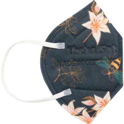 TECHNIMASK Mini, 5 Stück (1 Polybeutel mit 5 Stück), Muster Blumen