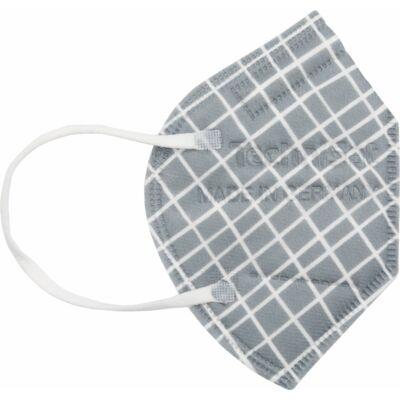 TECHNIMASK Mini, 5 Stück (1 Polybeutel mit 5 Stück), Muster Karo