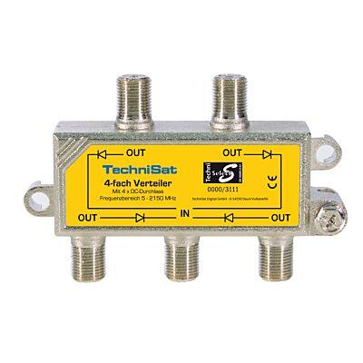 4-Wege-Verteiler, 4 x DC-Durchlass, diodenentkoppelt, silber