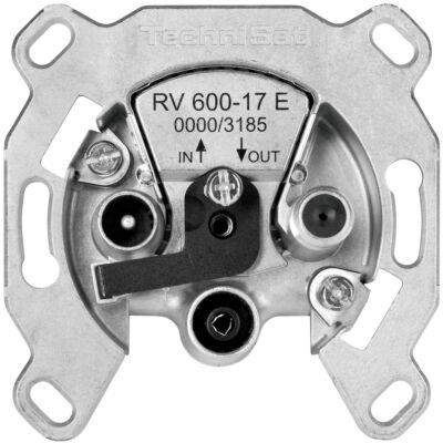 Durchgangsdose RV 600-17 E mit Überlastschutz und Sicherheitselektronik, silber