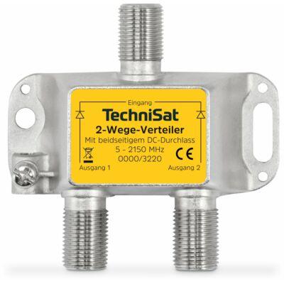 2-Wege-Verteiler, 2 x DC-Durchlass, diodenentkoppelt, silber