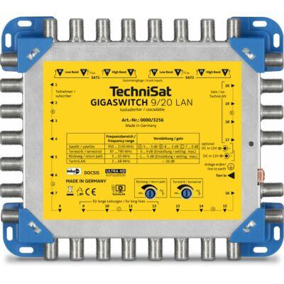 GIGASWITCH 9/20 LAN, blau/gelb