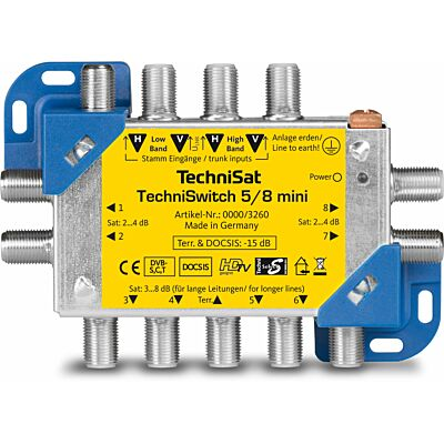 TECHNISWITCH 5/8 Mini, blau/gelb (B-Ware)