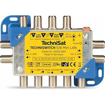 TECHNISWITCH 5/8 Mini LAN, blau/gelb