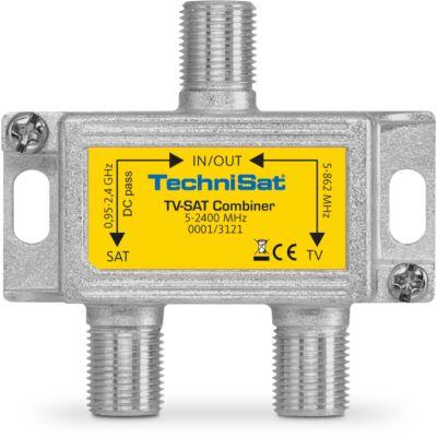 TV-SAT-Combiner, silber/gelb