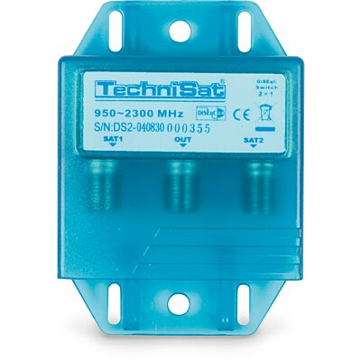 TECHNISWITCH 2/1 (DiSEqC-Positionsschalter), blau