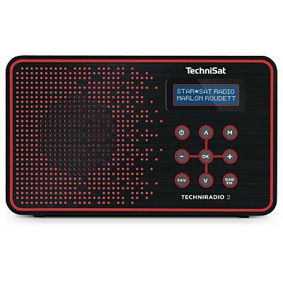 TECHNIRADIO 2, schwarz/rot (B-Ware)
