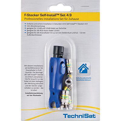 F-Stecker Self-Install™ Set 4.9, silber