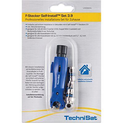 F-Stecker Self-Install™ Set 3.9, silber
