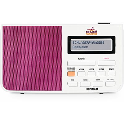 DIGITRADIO 210 Schlagerparadies Edition, weiß/pink