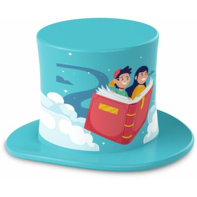 TECHNIFANT Hütchen Hörbücher, hellblau