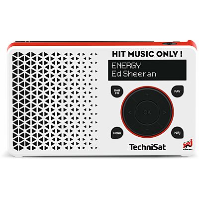 DIGITRADIO 1 ENERGY Edition, weiß/rot