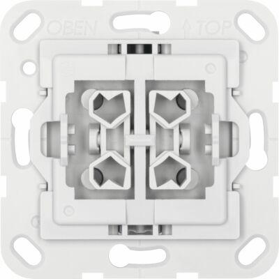Serienschalter-Einsatz,  kompatibel zu Gira, hellgrau