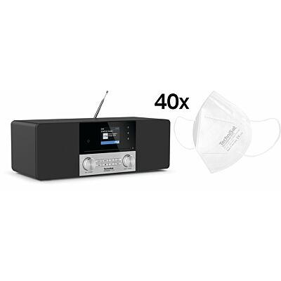 Aktionsset DIGITRADIO 3 VOICE (schwarz) + 40x TECHNIMASK FFP2