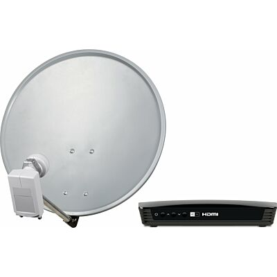 DIGITALSAT 55 + 1 x EUROTECH 2 HD+ und 10 m Anschlusskabel, grau