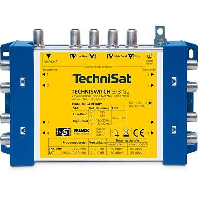 TECHNISWITCH 5/8 G2 DC-NT (Grundeinheit mit NT), blau/gelb (B-Ware)